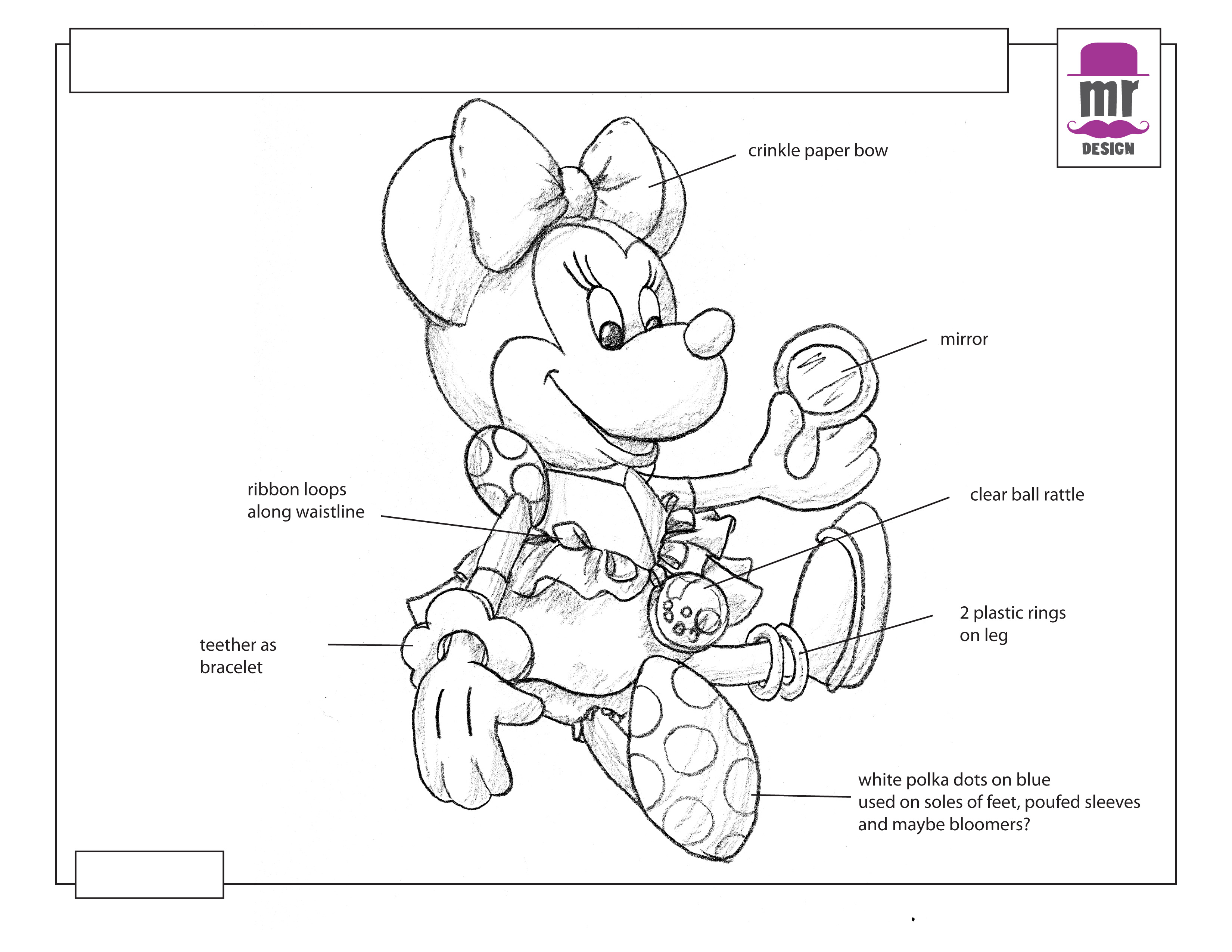 Minnie Mouse infant activity toy