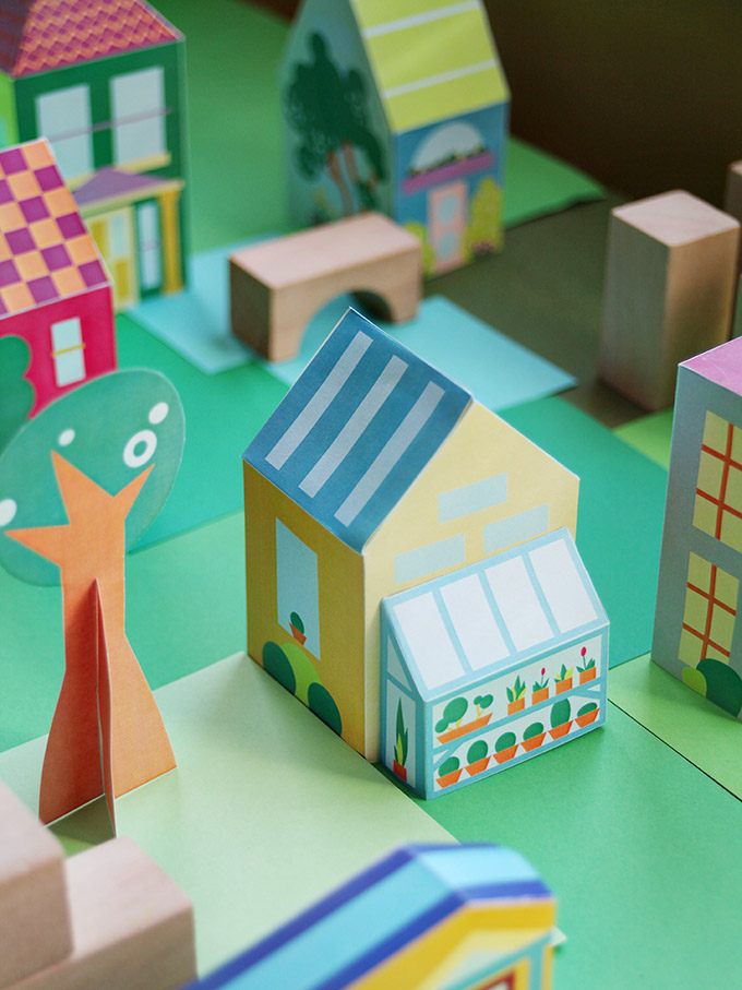 The Neighborhood – Printable Paper Toy Town