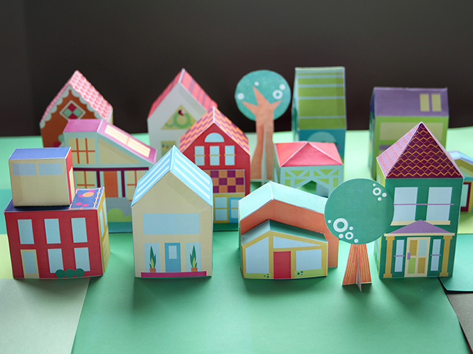 The Neighborhood Printable Paper Toy Town 171 Mari